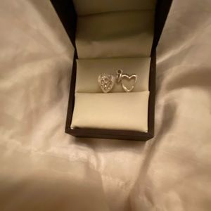 ⚡️Two sterling silver heart pendants